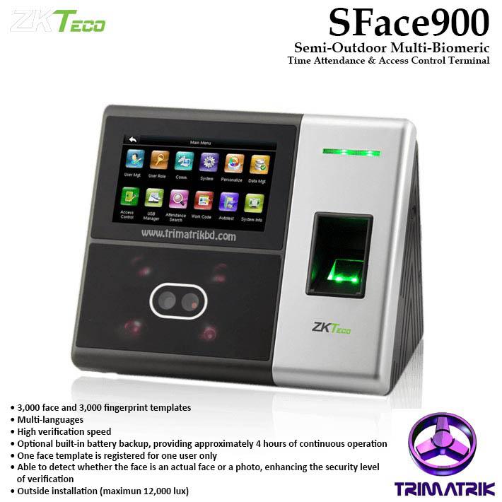 ZKTeco SFace900 Bangladesh