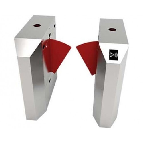 ZKTeco FBL2022 Single Lane Flap Barrier Turnstile (with controller, fingerprint & RFID reader)