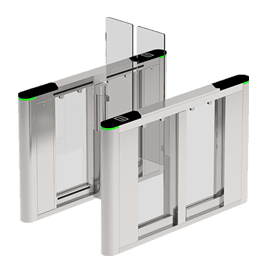 ZKTeco SBTL-8000 Indoor speed Gate Series Which Featured By Its Modular Reader Panel Design