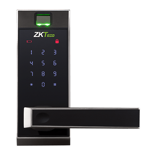 ZKTeco AL20B Lever Lock With Touch Screen and Bluetooth Fingerprint; ZKTECO BANGLADESH